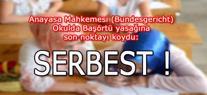 Anayasa Mahkemesi'nin Başörtü kararı:  SERBEST!
