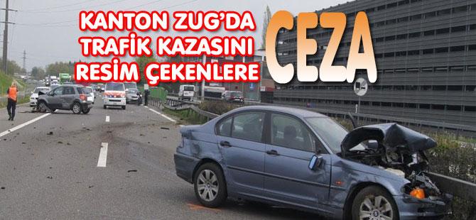 POLİS KAZAYI FİLMLEYENLERE CEZA KESTİ