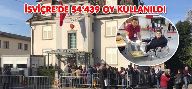 İSVİÇRE'DE 54'439 OY KULLANILDI