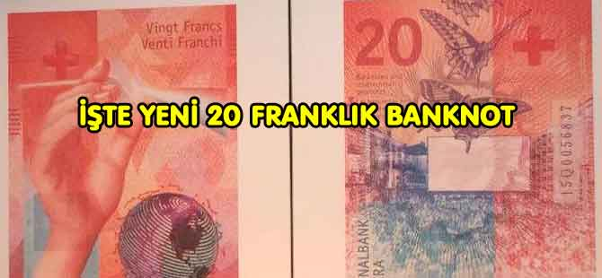 YENİ 20 FRANKLIK BANKNOT TANITILDI
