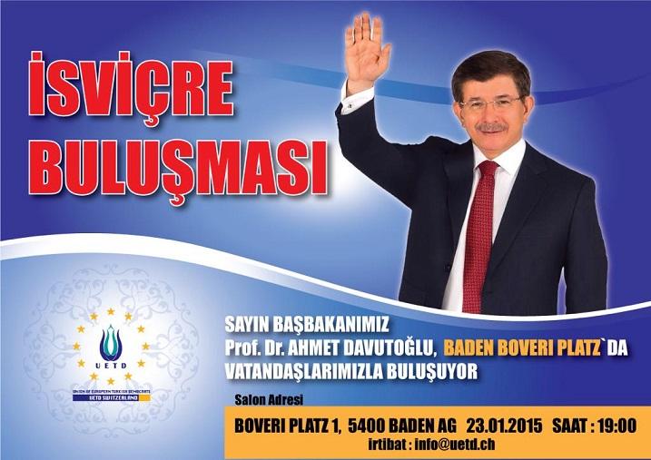 Ahmet Davutoğlu İsviçre'de