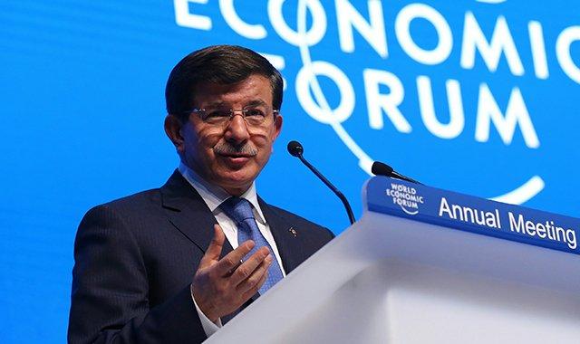 Başbakan Davutoğlu'ndan Davos'ta kritik mesajlar