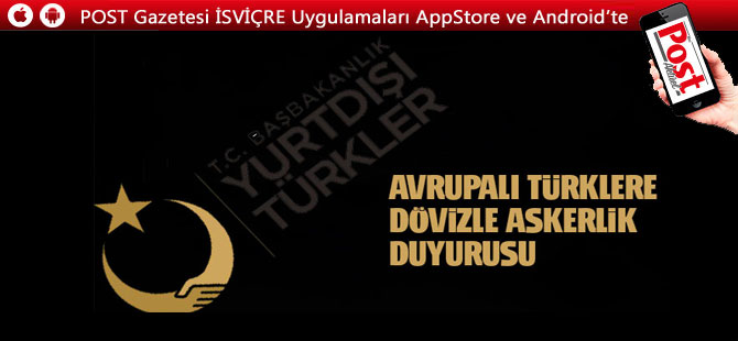 YTB'den Avrupalı Türklere dövizle askerlik duyurusu