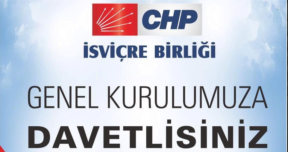 CHP İsviçre Birliği'nden genel kurula davet