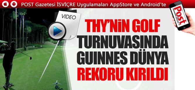 """Turkish Airlines Open'da """"Hız Golfü"""" Guinness Dünya Rekoru kırıldı"""