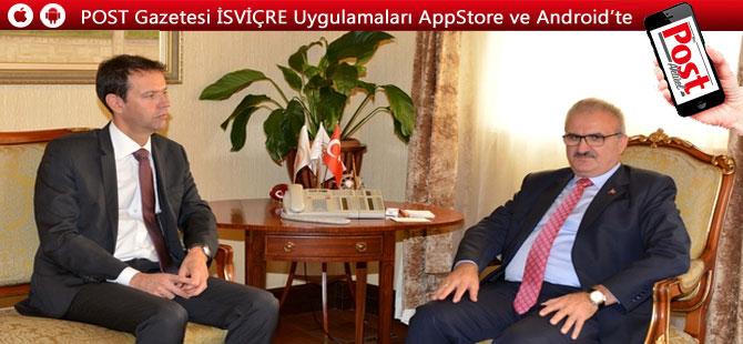 İsviçre'nin Ankara Büyükelçisi Paravicini'den Karaloğlu'na ziyaret