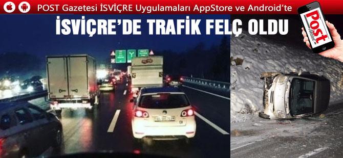 İsviçre'de bugün 50'den fazla kaza meydana geldi/ Trafik Felç oldu