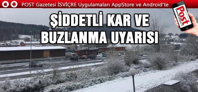 İsviçre'de beklenen Kar yağışları geldi