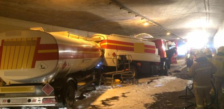 A3'te ağır trafik kazası / Brugg civarı otoban Kapatıldı