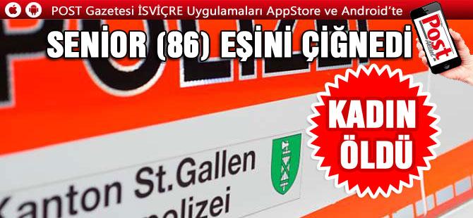 SENİOR (86) EŞİNİ ÇİĞNEDİ/ KADIN ÖLDÜ