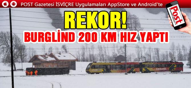 REKOR! BURGLİND 200 KM HIZ YAPTI