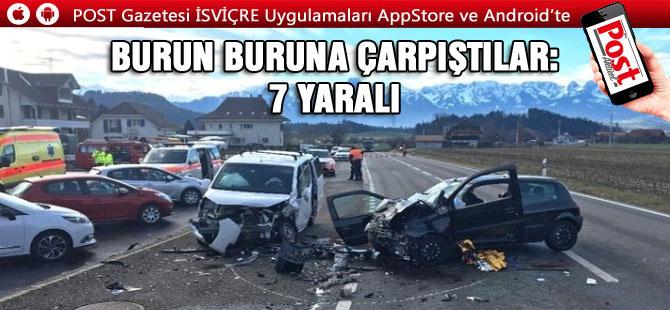 Kanton Bern'de Trafik kazası: 3'ü Çocuk 7 Yaralı