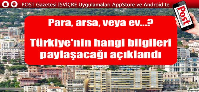 Türkiye'nin hangi bilgileri paylaşacağı açıklandı