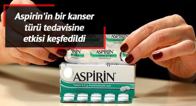 Aspirin'in bir kanser türü tedavisine etkisi keşfedildi