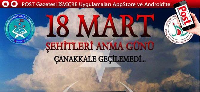 18 MART ŞEHİTLERİ ANMA GÜNÜ'NE DAVET