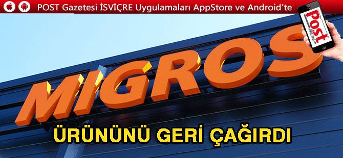 MİGROS'TAN BU ÜRÜNE DİKKAT!
