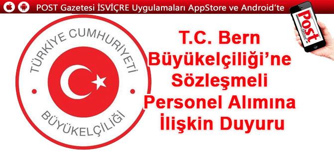 Büyükelçilik Türk uyruklu sekreter arıyor