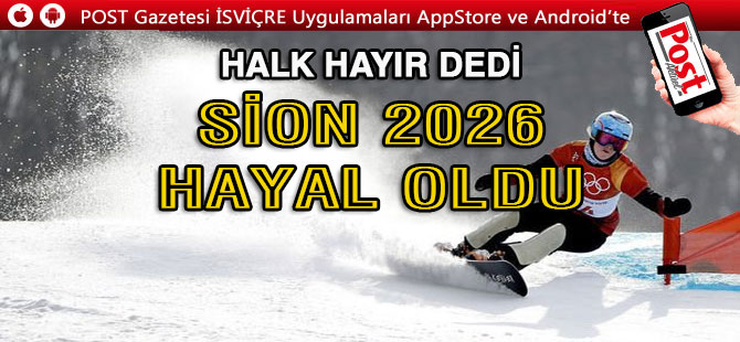 Sion, 2026 Kış Olimpiyatları'na aday olmayacak