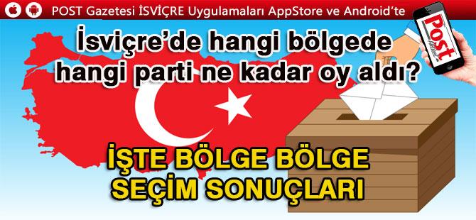 İSVİÇRE'DEN KESİN  SANDIK SONUÇLARI..