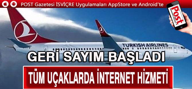 THY tüm uçaklarında internet hizmeti verecek