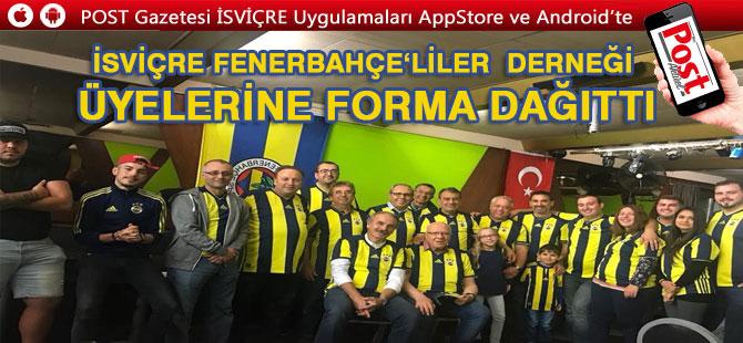 İsviçre Fenerbahçeliler Derneğinden üyelerine Forma jesti