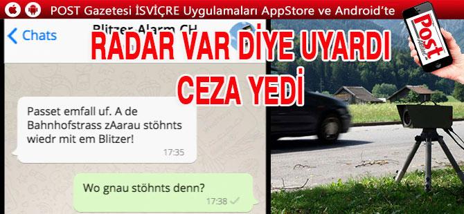 WhatsApp Uyarısına 500 fr. Ceza!