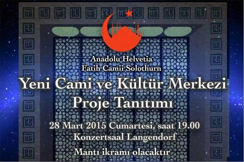 Yeni Cami ve Kültür Merkezimizin proje tanıtımı