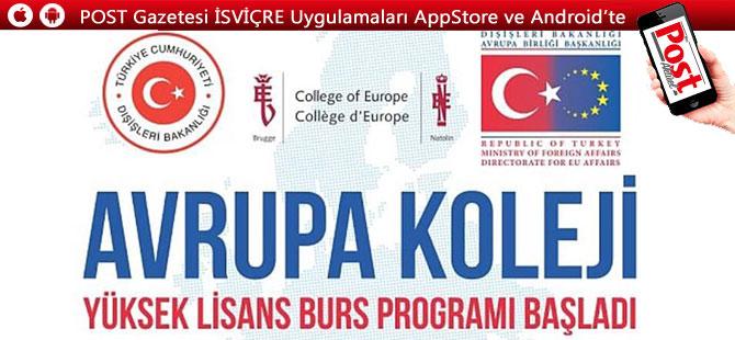 Avrupa Koleji yüksek lisans burs programı başvuruları başladı