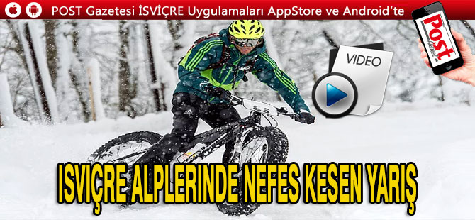 İsviçre Alpleri'nde Kar Bisiklet Festivali!