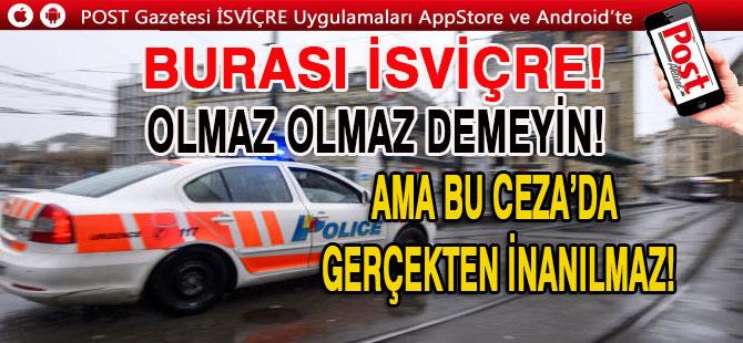 SUÇLU KOVALAYAN POLİS'E 600 FR CEZA