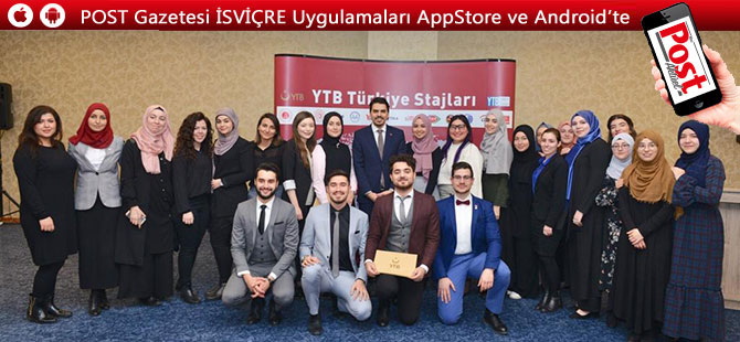 """YTB Türkiye Stajları"""" programının katılımcıları sertifikalarını aldı"""