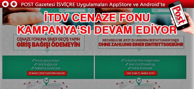 İTDV Cenaze Fonu'ndan Mart ayı sonuna kadar yeni Kampanya