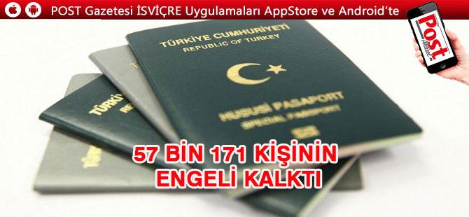 İçişleri Bakanlığı 57 bin 171 kişinin pasaport engelini kaldırdı