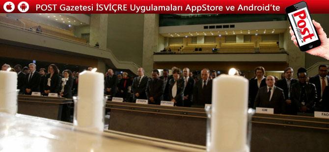 Cenevre, BM Ofisinde Saygı ve anma töreni