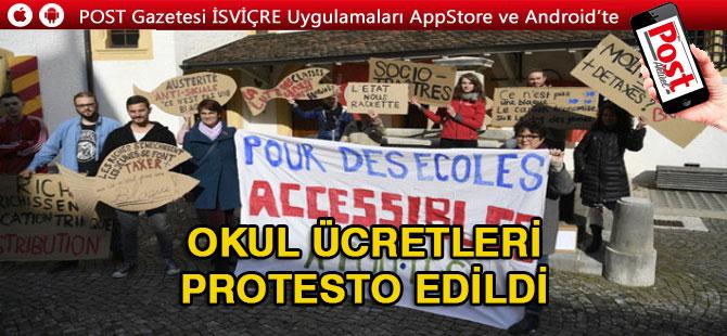 Okul ücretleri Protesto edildi