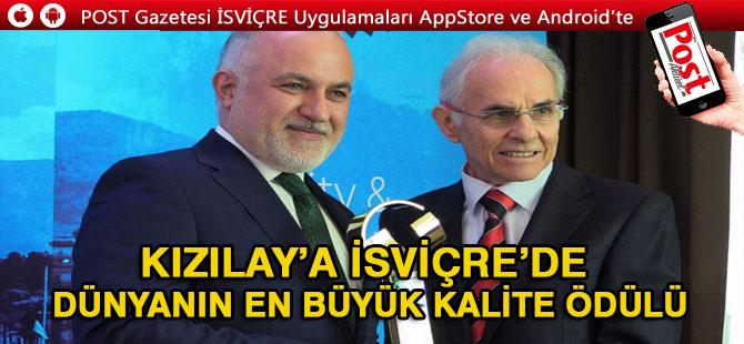Türk Kızılay'a İsviçre'de 'Uluslararası Kalite Ödülü'