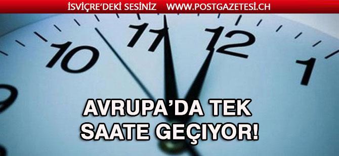 Türkiye'nin ardından Avrupa'da tek saate geçiyor!