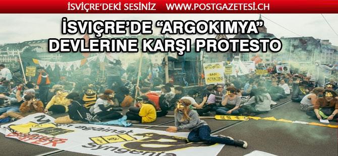 "İsviçre'de ""Argokimya"" Devlerine karşı protesto"