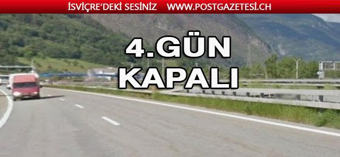 Brig – Visp arasında bulunan  A 9 otoyolu 4 gün kapalı
