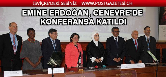 Emine Erdoğan İsviçre'de ikili temaslarda bulundu.