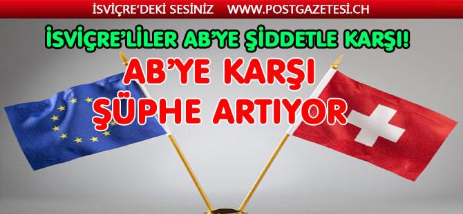"""İSVİÇRE'LİLER """"AB"""" ÜYELİĞİ İSTEMİYOR"""