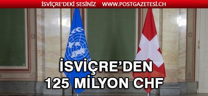 İsviçre, BMMYK'ya 125 milyon frank bağış yaptı