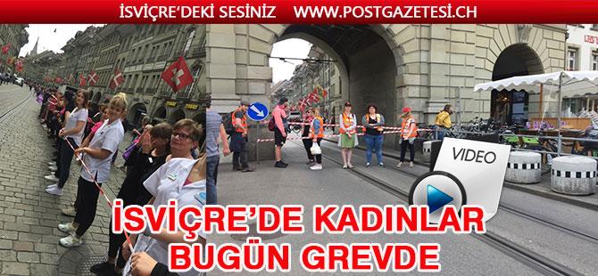 İsviçreli kadınlar eşit ücret için greve gittiler