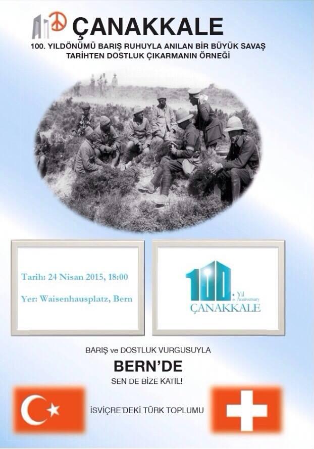 Bern'de Çanakkale programı