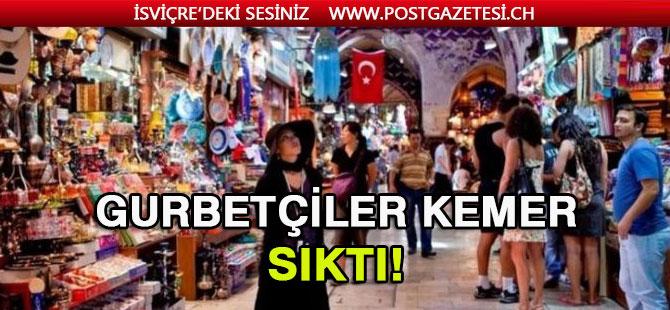 Gurbetçiler kemerleri sıktı: Türkiye'de harcadıkları para azaldı