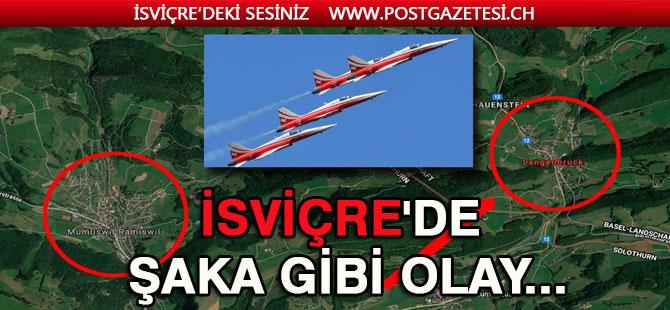 İsviçre Hava Kuvvetleri yanlış yerde gösteri yaptı