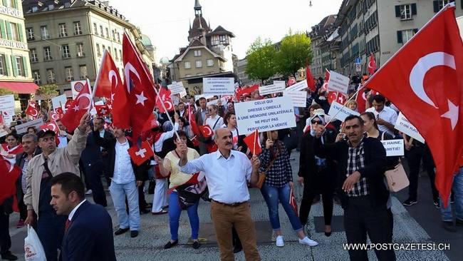 Bern'de Çanakkale anıldı, Ermeniler Protesto edildi / FOTO GALERİ