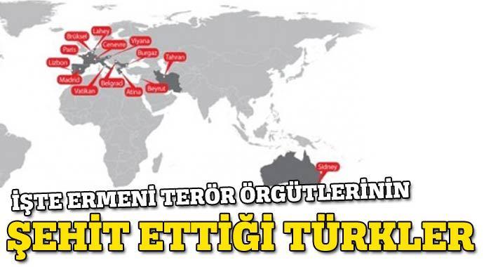Ermeni terör örgütlerinin şehit ettiği Türkler