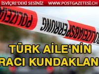 Türk ailenin aracı kundaklandı