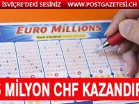 Talihli kişi 135 milyon CHF kazandı